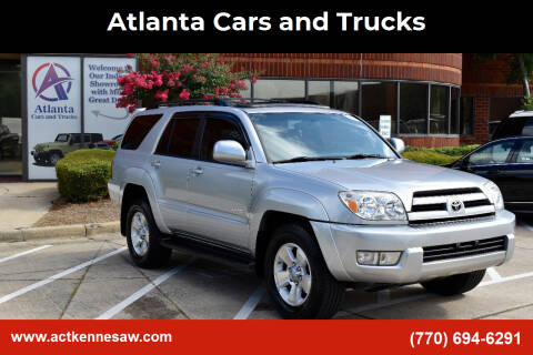 2005 Toyota 4Runner for sale at Atlanta Cars and Trucks in Kennesaw GA