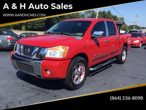 2008 Nissan Titan for sale at A & H Auto Sales in Greenville SC