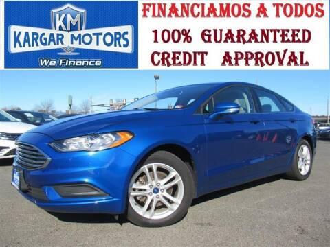 2018 Ford Fusion for sale at Kargar Motors of Manassas in Manassas VA