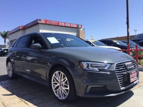 2018 Audi A3 Sportback e-tron for sale at CARCO SALES & FINANCE in Chula Vista CA