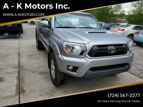 2015 Toyota Tacoma for sale at A - K Motors Inc. in Vandergrift PA
