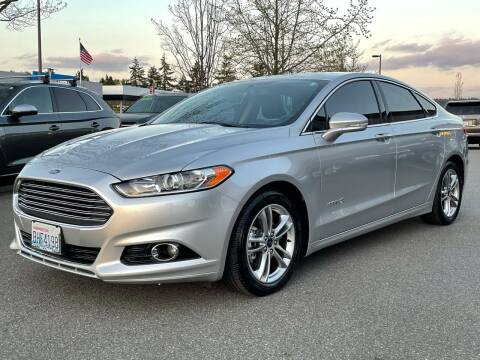 2015 Ford Fusion Hybrid for sale at GO AUTO BROKERS in Bellevue WA