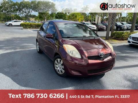 2009 Toyota Yaris for sale at AUTOSHOW SALES & SERVICE in Plantation FL