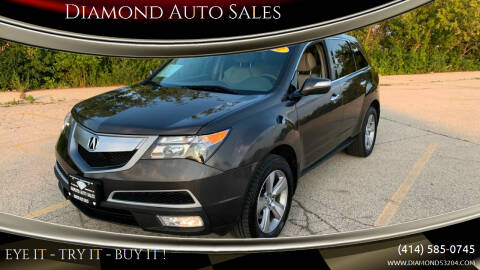 2012 Acura MDX for sale at Diamond Auto Sales in Milwaukee WI