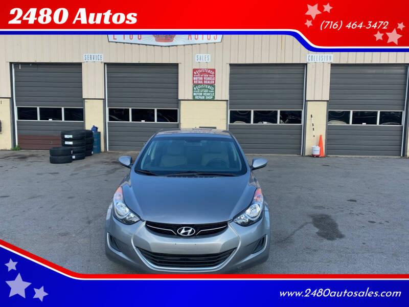 2013 Hyundai Elantra for sale at 2480 Autos in Kenmore NY