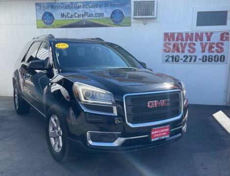 2016 GMC Acadia for sale at Manny G Motors in San Antonio TX