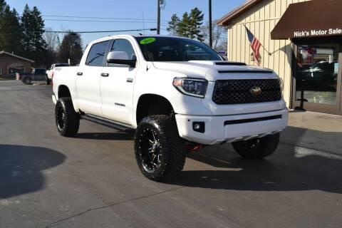2018 Toyota Tundra for sale at Nick's Motor Sales LLC in Kalkaska MI