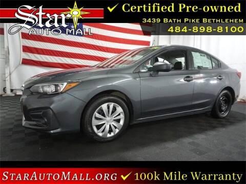 2018 Subaru Impreza for sale at STAR AUTO MALL 512 in Bethlehem PA