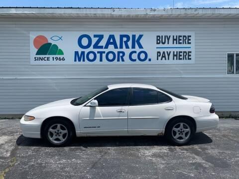 2002 Pontiac Grand Prix for sale at OZARK MOTOR CO in Springfield MO