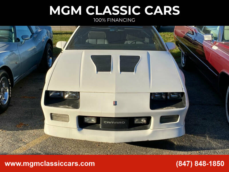 1990 Chevrolet Camaro for sale at MGM CLASSIC CARS in Addison IL