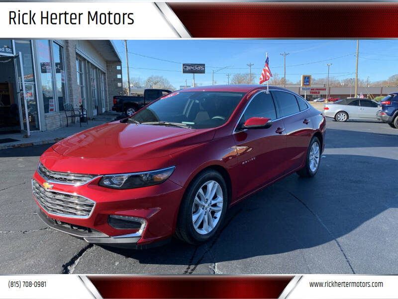 2018 Chevrolet Malibu for sale at Rick Herter Motors in Loves Park IL