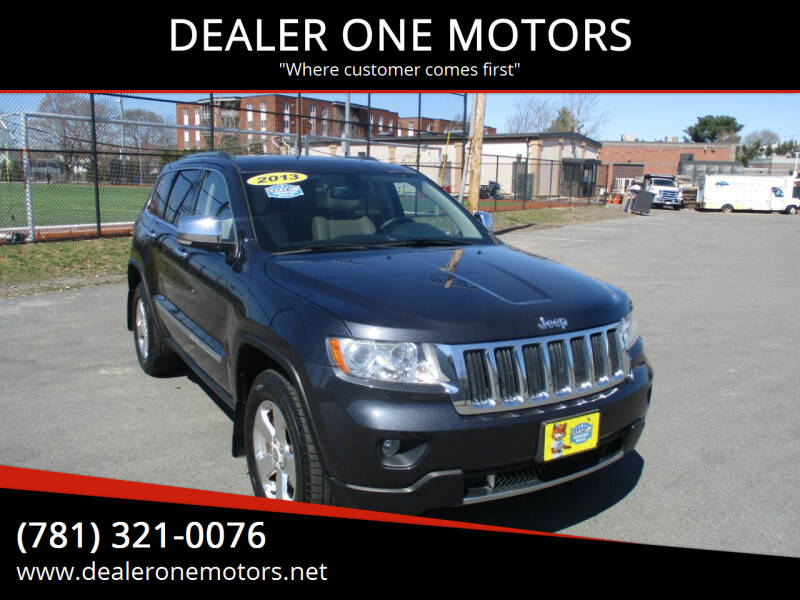 2013 Jeep Grand Cherokee for sale at DEALER ONE MOTORS in Malden MA