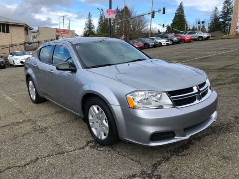 2014 Dodge Avenger for sale at KARMA AUTO SALES in Federal Way WA