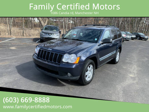 2009 Jeep Grand Cherokee for sale at Family Certified Motors in Manchester NH