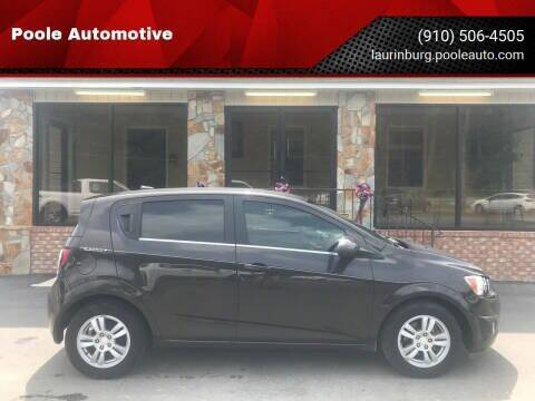 2014 Chevrolet Sonic for sale at Poole Automotive in Laurinburg NC
