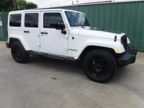 2014 Jeep Wrangler Unlimited for sale at Triple C Auto Sales in Gainesville TX