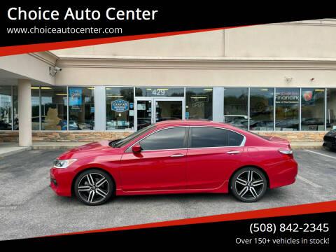 2017 Honda Accord for sale at Choice Auto Center in Shrewsbury MA