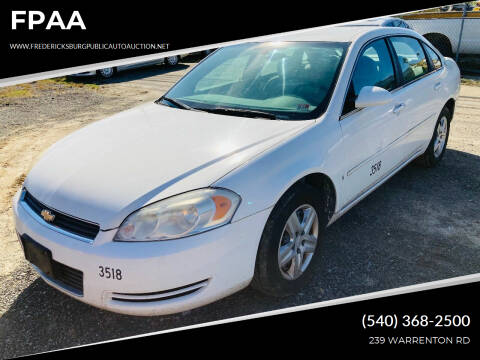 2006 Chevrolet Impala for sale at FPAA in Fredericksburg VA