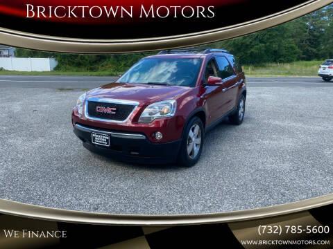 2010 GMC Acadia for sale at Bricktown Motors in Brick NJ