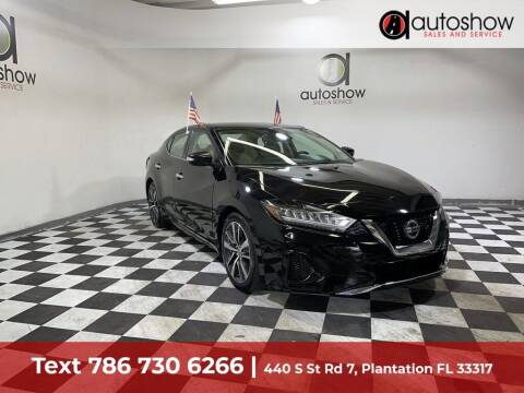 2020 Nissan Maxima for sale at AUTOSHOW SALES & SERVICE in Plantation FL