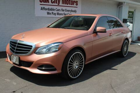 2016 Mercedes-Benz E-Class for sale at Oak City Motors in Garner NC