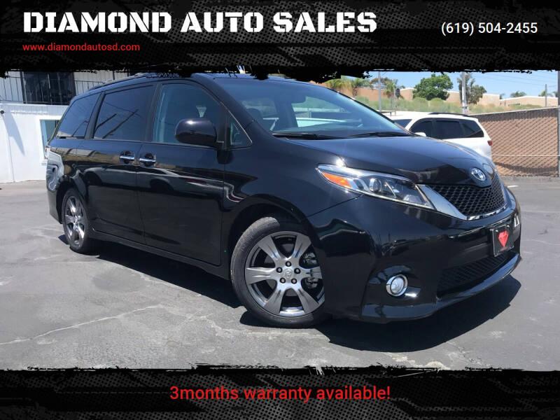 2017 Toyota Sienna for sale at DIAMOND AUTO SALES in El Cajon CA