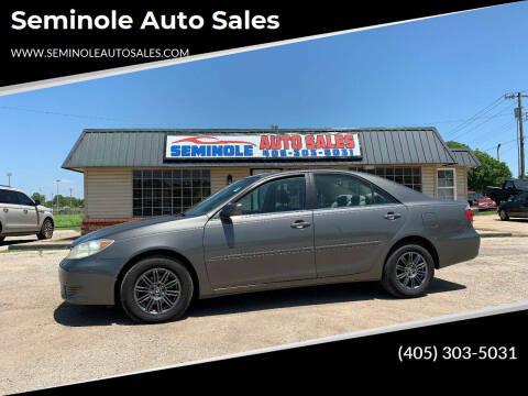 2006 Toyota Camry for sale at Seminole Auto Sales in Seminole OK