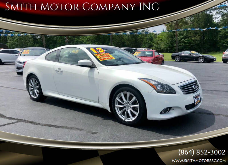 2013 Infiniti G37 Coupe for sale at Smith Motor Company INC in Mc Cormick SC