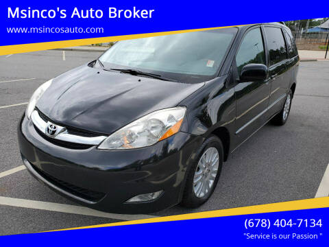 2009 Toyota Sienna for sale at Msinco's Auto Broker in Snellville GA