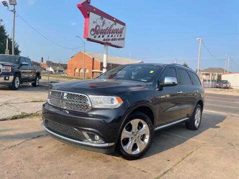 2015 Dodge Durango for sale at Southwest Car Sales in Oklahoma City OK