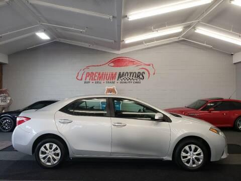 2016 Toyota Corolla for sale at Premium Motors in Villa Park IL