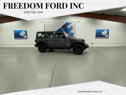2018 Jeep Wrangler Unlimited for sale at Freedom Ford Inc in Gunnison UT