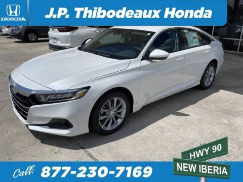2021 Honda Accord for sale at J P Thibodeaux Used Cars in New Iberia LA