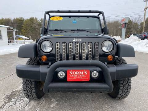 2013 Jeep Wrangler Unlimited for sale at NORM'S USED CARS INC in Wiscasset ME