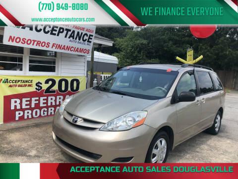 2010 Toyota Sienna for sale at Acceptance Auto Sales Douglasville in Douglasville GA
