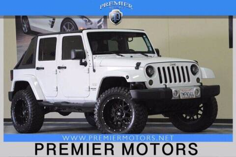 2013 Jeep Wrangler Unlimited for sale at Premier Motors in Hayward CA