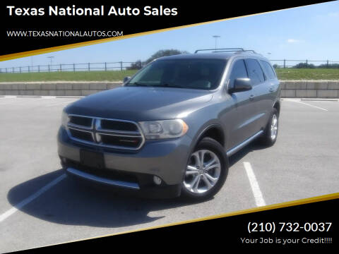2013 Dodge Durango for sale at Texas National Auto Sales in San Antonio TX