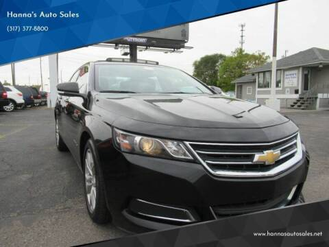 2017 Chevrolet Impala for sale at Hanna's Auto Sales in Indianapolis IN