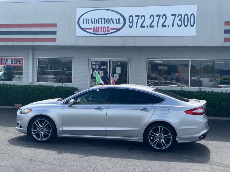 2014 Ford Fusion for sale at Traditional Autos in Dallas TX