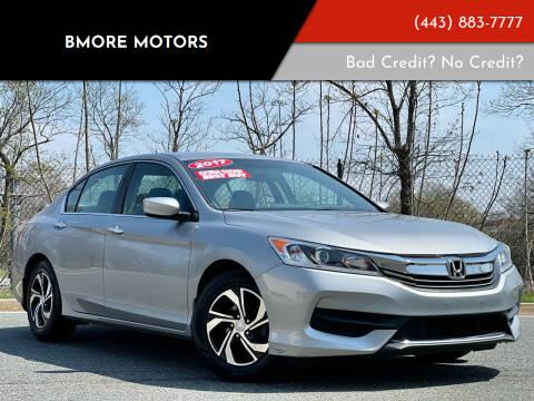2017 Honda Accord for sale at Bmore Motors in Baltimore MD