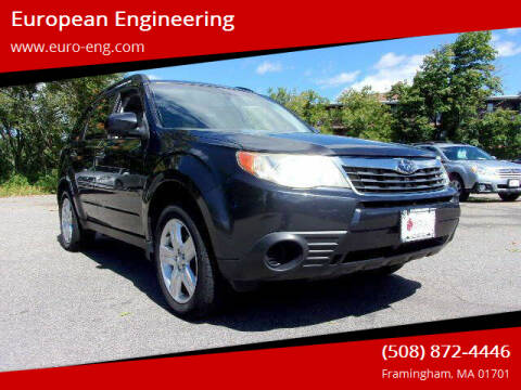 2010 Subaru Forester for sale at European Engineering in Framingham MA
