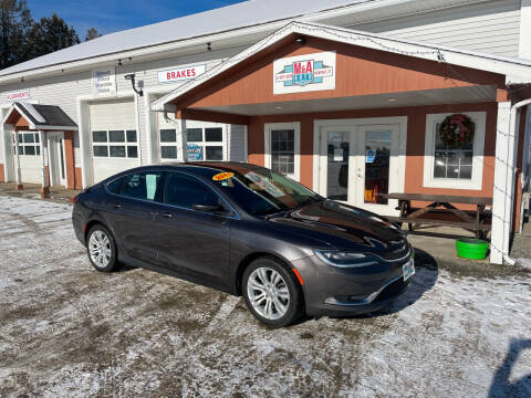 2015 Chrysler 200 for sale at M&A Auto in Newport VT