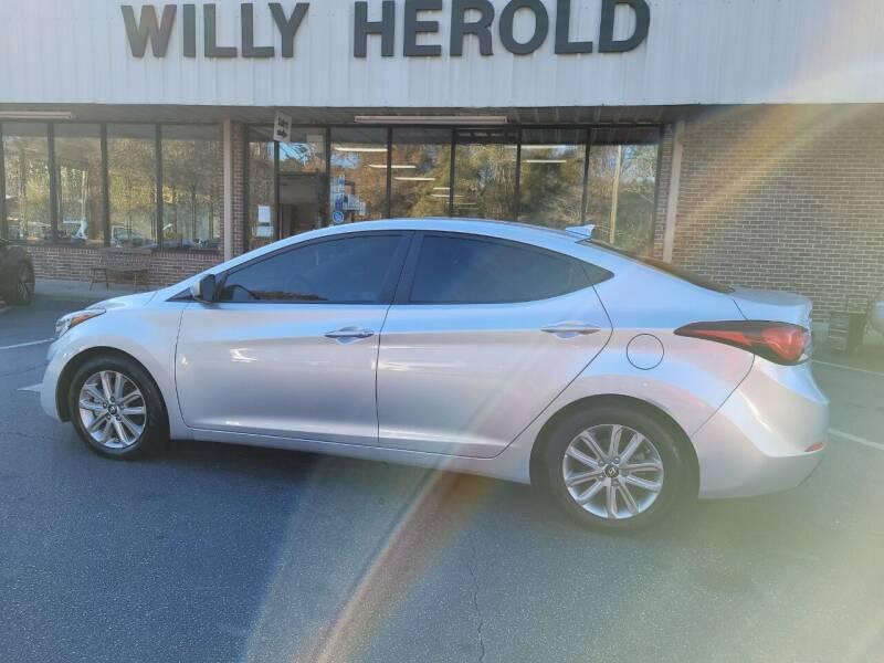 2016 Hyundai Elantra for sale at Willy Herold Automotive in Columbus GA