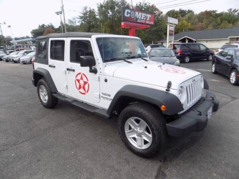 2017 Jeep Wrangler Unlimited for sale at Comet Auto Sales in Manchester NH