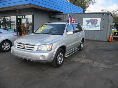 2004 Toyota Highlander for sale at AUTO BROKERS OF ORLANDO in Orlando FL