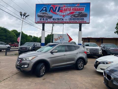 2013 Hyundai Santa Fe Sport for sale at ANF AUTO FINANCE in Houston TX