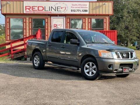 2013 Nissan Titan for sale at REDLINE AUTO SALES LLC in Cedar Creek TX