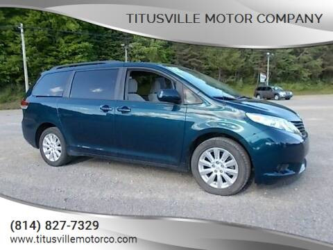 2012 Toyota Sienna for sale at Titusville Motor Company in Titusville PA