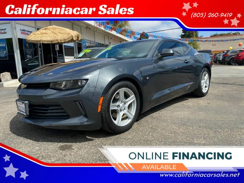 2017 Chevrolet Camaro for sale at Californiacar Sales in Santa Maria CA