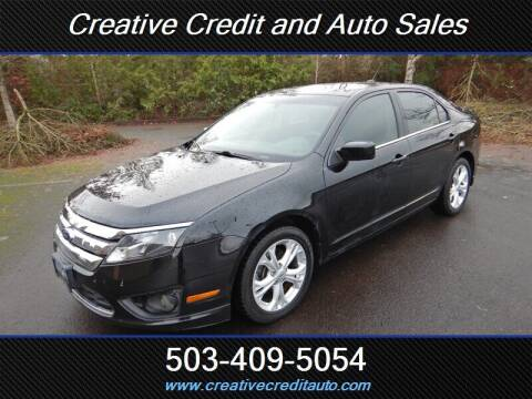 2012 Ford Fusion for sale at Creative Credit & Auto Sales in Salem OR